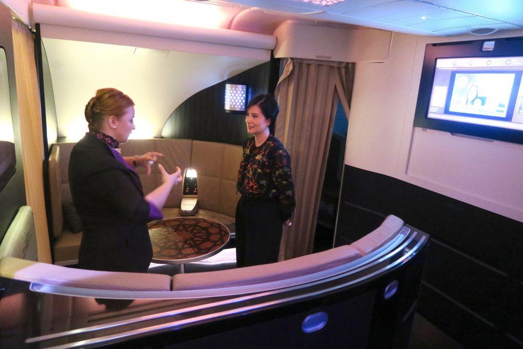 Topnotch service from EY 455 Crew Etihad Airways Business Class Sydney to Abu Dhabi