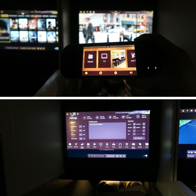 Etihad Airways E-Box Entertainment System on Business Class A380