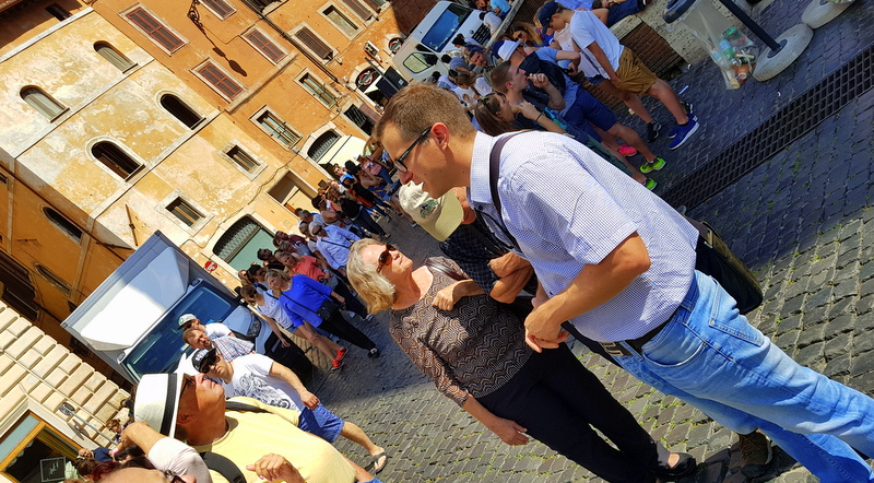 Michele was great leading us amidst the Rome tourist crowds