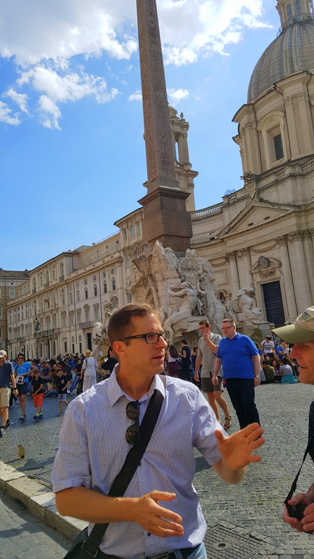 Our guide Michele of The Roman Guy