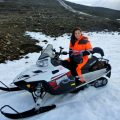 A must when in Iceland: Snowmobiling on a Glacier